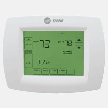 Trane XL800 thermostat.