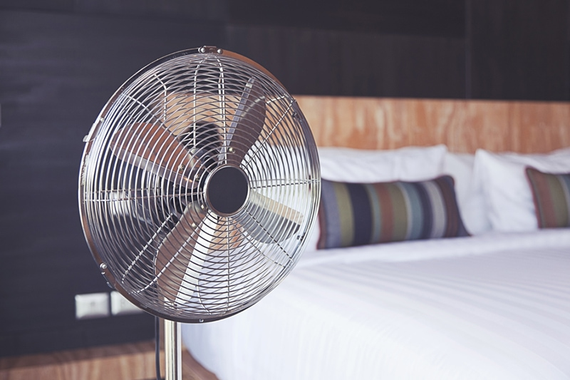 Electric fan in the room, Improve Your Home's Indoor Air Quality | HVAC Maintenance | Fisherville