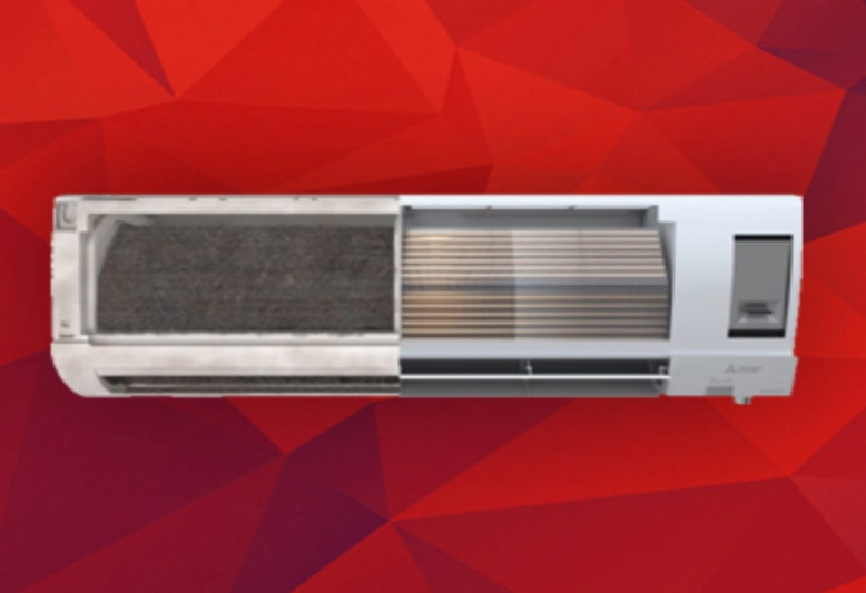 clean vs dirty side of ductless unit
